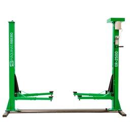Elevador de 2 Colunas Automotivo Trifásico 2,5 Toneladas Verde