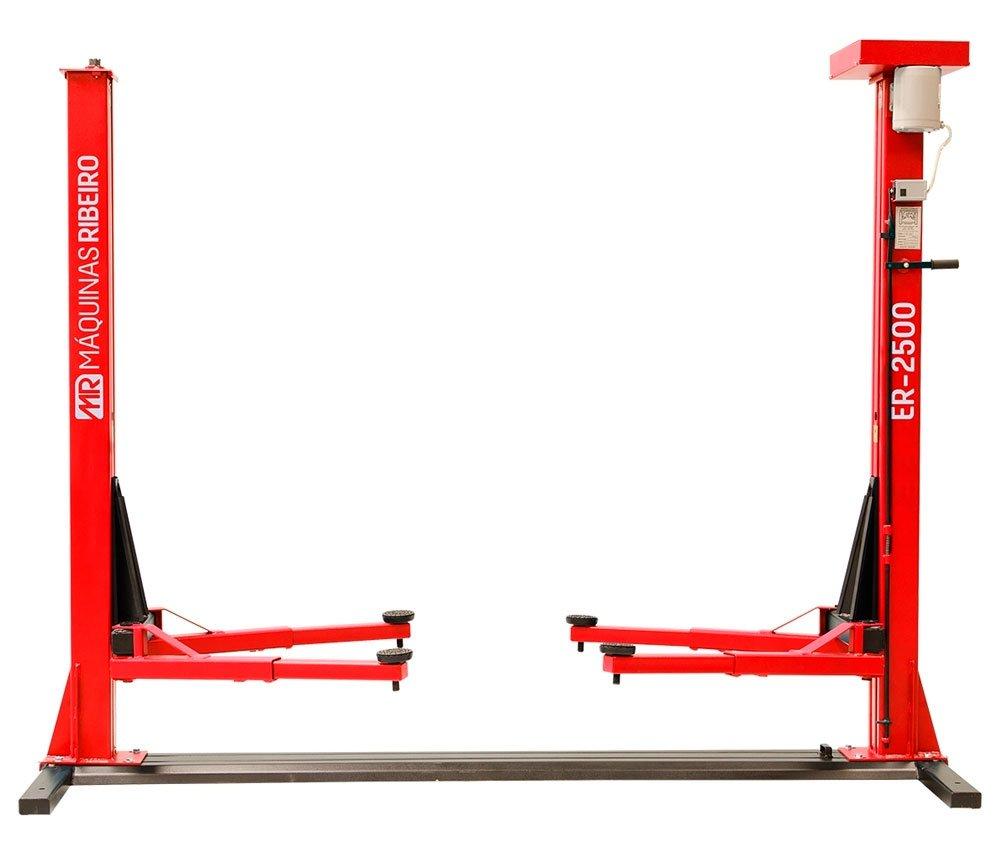 Elevador Automotivo Monofásico Vermelho 2,5 Toneladas