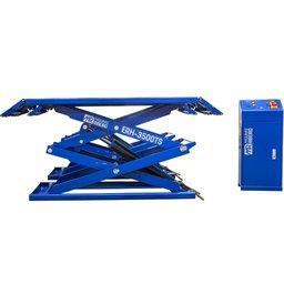 Elevador Pantográfico Hidráulico Azul Tipo Tesoura 3500kg 220V