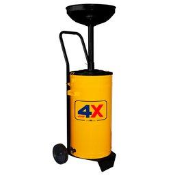 Coletor de Óleo de 50 Litros Amarelo com Carrinho