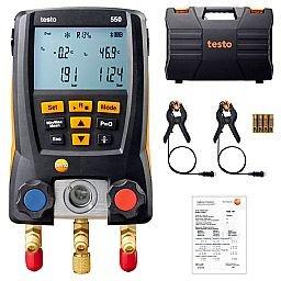 Kit Manifold Digital 550 para Medição de Pressão em Sistema de Refrigeração com Bluetooth e 2 Sondas