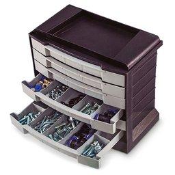 Organizador Multiuso de Plástico Prata 295 x 170 x 267mm