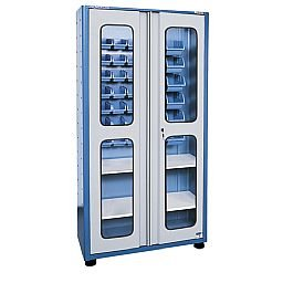 Armário Porta-Componente Compact com Visor e 33 Caixas