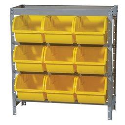 Estante Porta Componentes com 9 Caixas Amarelas Nr. 7