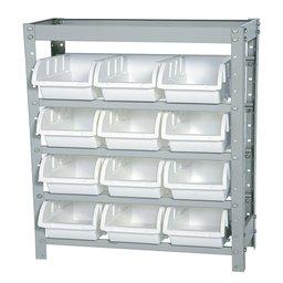 Estante Porta Componentes com 12 Caixas Brancas Nr. 5