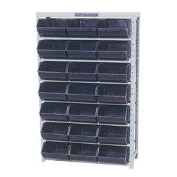 Estante Porta Componentes com 21 Caixas Nr. 7 Cor Preta