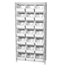 Estante Porta-Componentes com 21 Caixas Branca Número 7