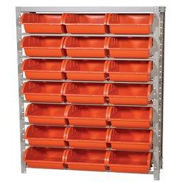 Estante Porta Componentes com 21 Caixas Nr. 7 Cor Laranja