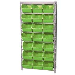 Estante Porta Componentes Desmontável 21 Caixas Nr. 7 Cor Verde