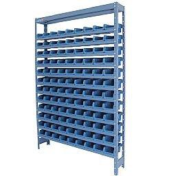 Estante Compacta com 108 Caixas Nr. 3 Azul