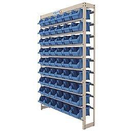 Estante Gaveteiro Organizador 54 Gavetas Número 5 Cor Azul