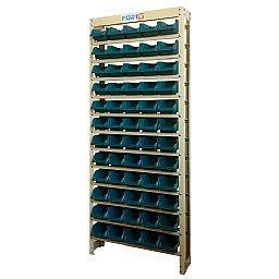 Estante Gaveteiro Organizador com 60 Gavetas Número 3 Cor Azul