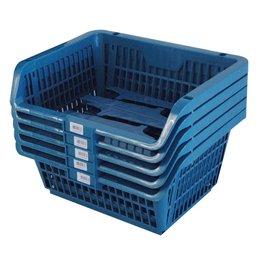 Cesto Expositor Prático Azul com 5 Unidades