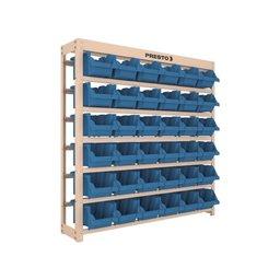 Kit Estante Gaveteiro Organizador com 36 Gavetas Nr. 5 Cor Azul