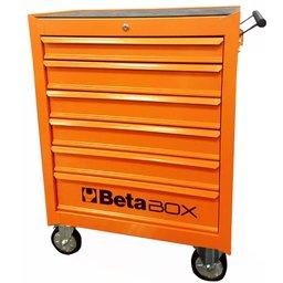 Carro para Ferramentas Laranja Beta Box com 6 Gavetas