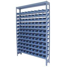 Estante Porta Componentes Azul com 108 Caixas Nr. 3