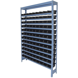 Estante Porta Componente com 108 Caixas Preta Nr. 3