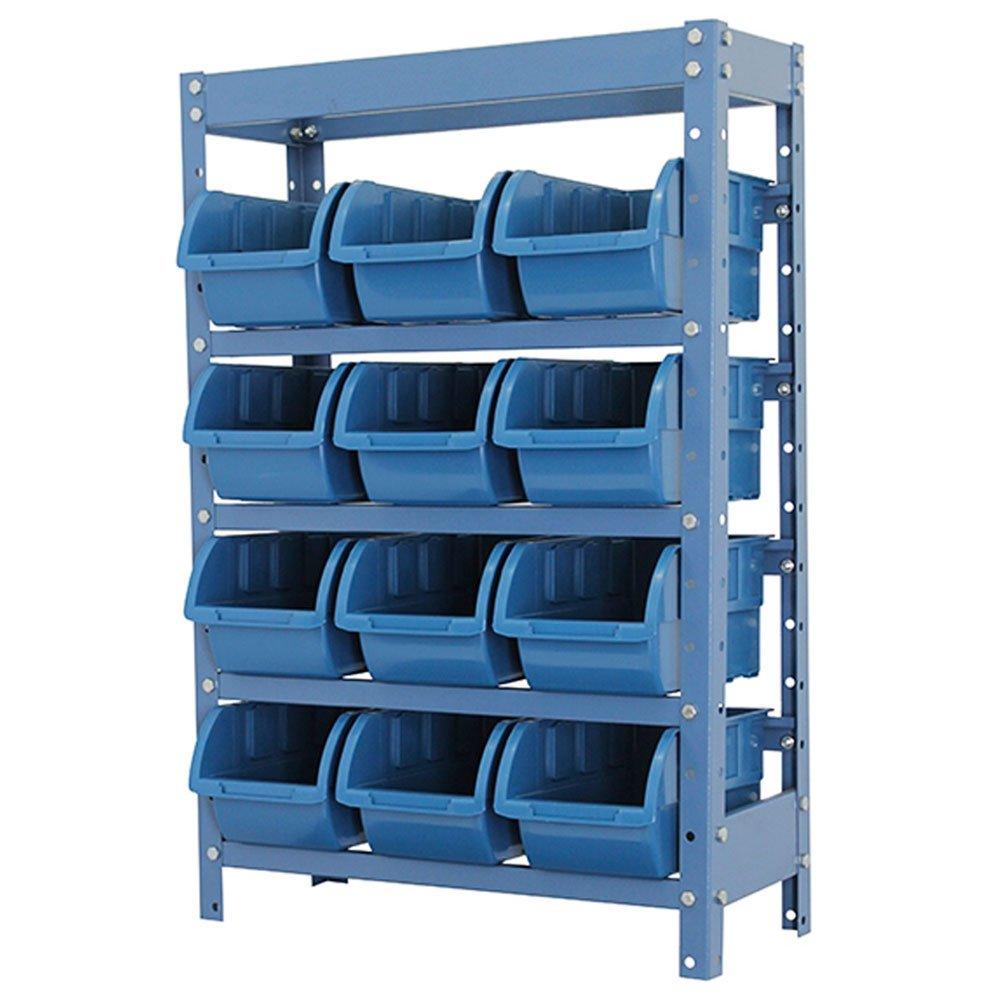 Estante Porta Componentes Azul com 12 Caixas Nr. 5