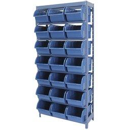 Estante Porta Componentes Azul com 21 Caixas Nr. 7