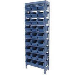 Estante Porta Componentes Azul com 27 Caixas Nr. 5