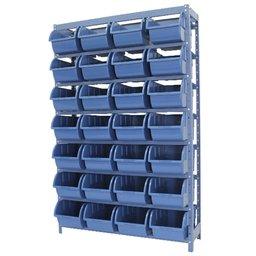 Estante Porta Componentes Azul com 28 Caixas Nr. 7