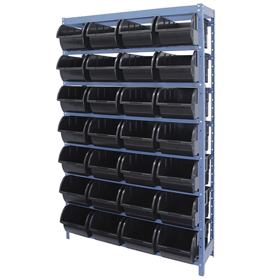 Estante Porta Componentes com 28 Caixas Preta Nr. 7
