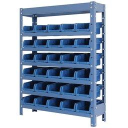 Estante Porta Componentes Azul com 30 Caixas Nr. 3