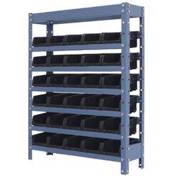 Estante Porta Componentes com 30 Caixas Pretas Nr. 3