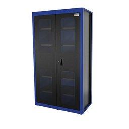Armário Vertical Azul para Ferramentas 2 Portas com Visores