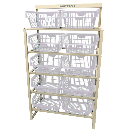 Kit Estante com 10 Cestos Organizadores Branco