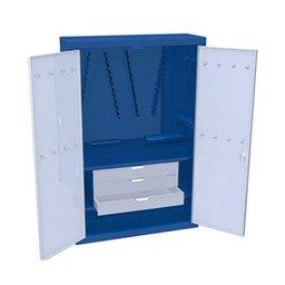 Armário para ferramentas com 2 prateleiras e 3 gavetas