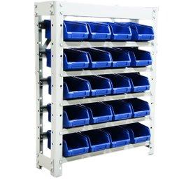 Estante Gaveteiros com 20 Caixas Azul N° 03