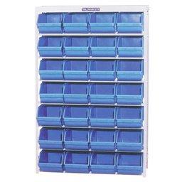 Estante Porta-Componentes com 28 Caixas Azuis N° 7