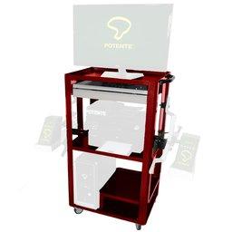 Rack Vermelho para Alinhador Digital de Direção