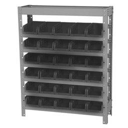 Estante Porta-Componentes com 30 Caixas Pretas N°3