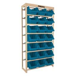 Kit Estante Gaveteiro com 21 Gavetas Prática N°7 Azul