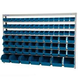Estante Porta-Componentes com 82 Caixas Azuis N°3, 5 e 7