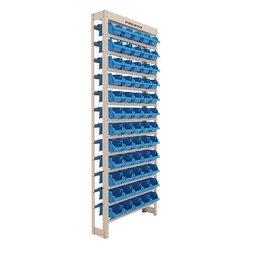 Kit Estante Gaveteiro com 60 Gavetas Empilháveis N°3 Azul