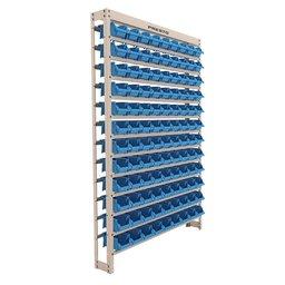Kit Estante Gaveteiro com 108 Gavetas N°3 Azul