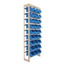 Kit Estante Gaveteiro com 27 Gavetas N°5 Azul