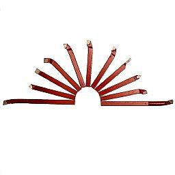Jogo 11 Peças Ferramentas de Corte em Metal Duro 8 x 8mm para Torno