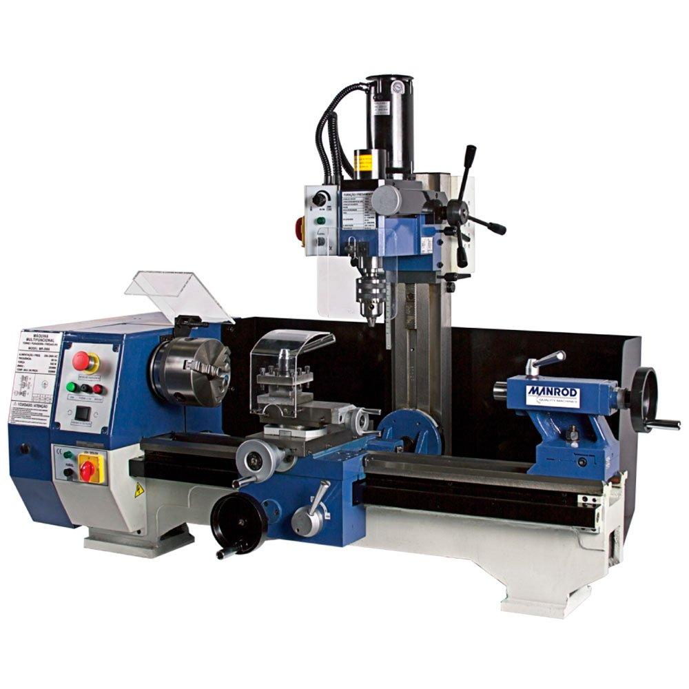 Máquina Multifuncional Torno + Furadeira e Fresadora 220V Monofásico