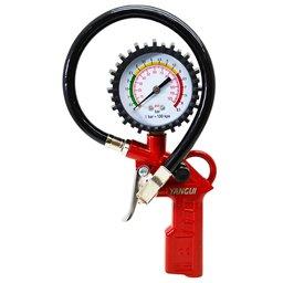 Calibrador de Pneus Profissional com Manômetro 0 a 120 PSI