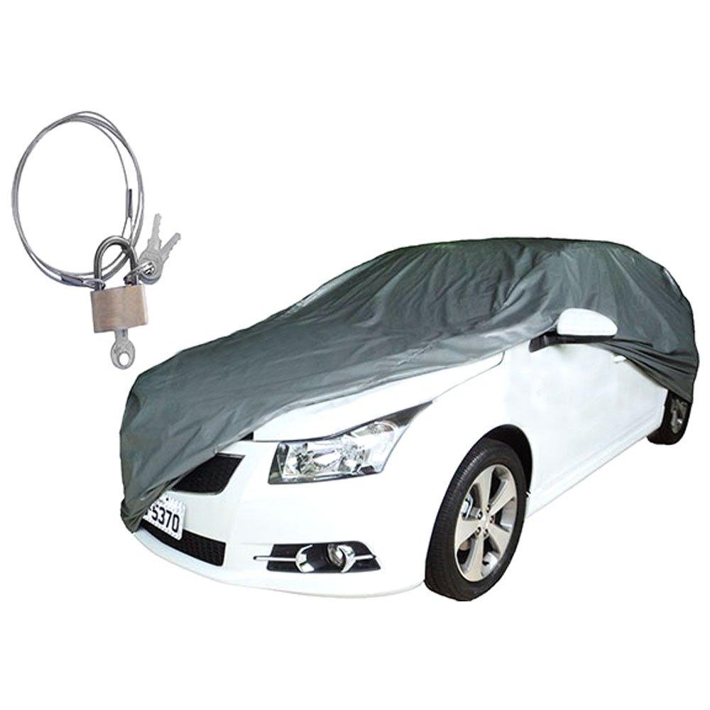 Capa para Cobrir Automóveis com Forro e Cadeado Tamanho M