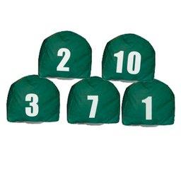 Jogo de Prismas Verde com Números de 1 a 10
