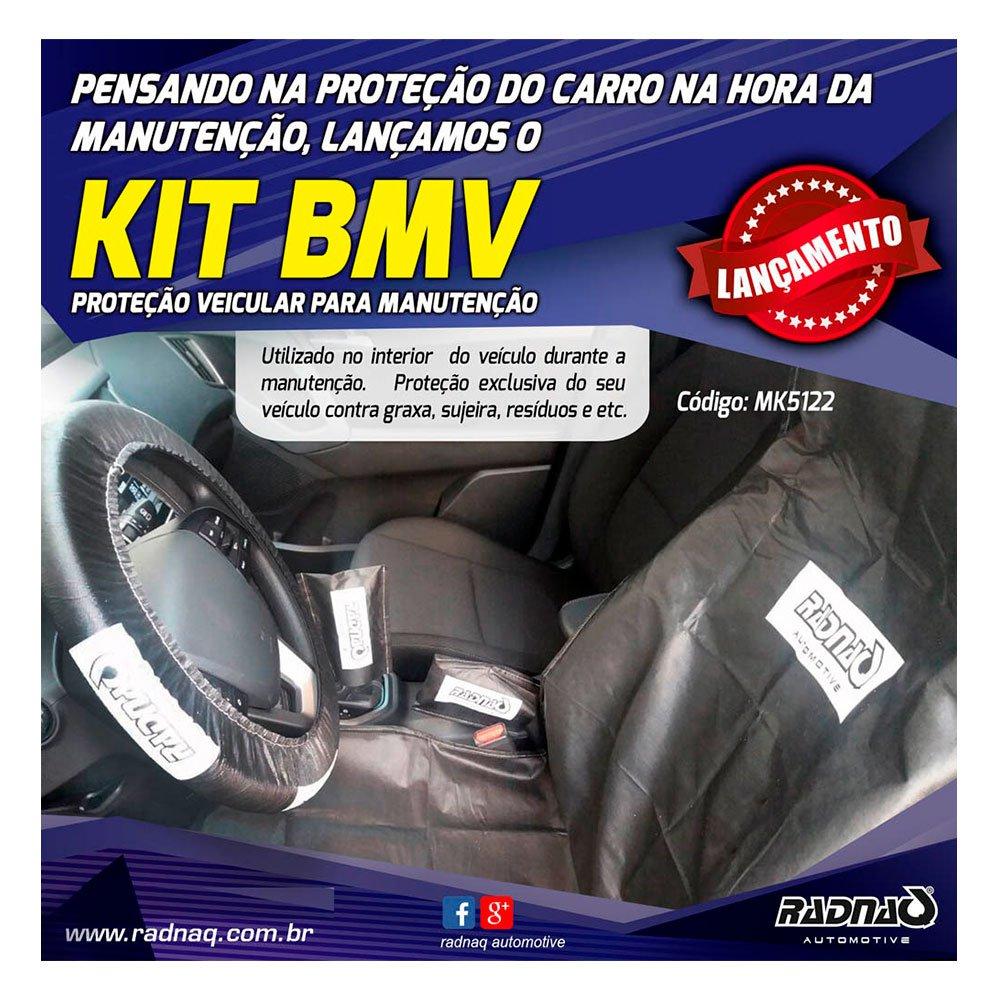 Kit BMV Proteção Interna Veicular com Capa para Volante Banco Câmbio e Freio de Mão
