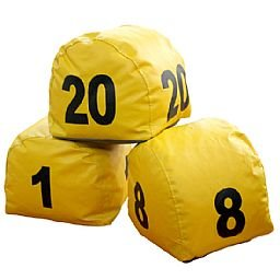 Jogo de Prismas Amarelo com Numeração de 1 a 20