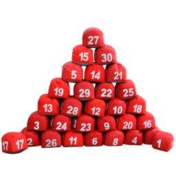 Jogo de Prisma de 1 à 30 Vermelho