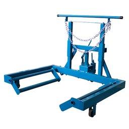 Macaco Hidráulico 600Kg para Retirar Rodas Duplas com Rodas de Ferro