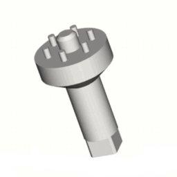 Chave de Espigas (6 pinos) para Válvula de Admissão do Compressor de Ar com 77mm